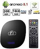 HOMI Android TV Box 8.1,A95X F1 Smart TV Box 2GB RAM 16GB ROM Support 4K 1080P 3D 2.4GHz WiFi Amlogic Quad Core 64bit Processor Smart Media Player,OTT TV Box with USB 3.0 Android TV Box