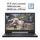 2020 Dell G7 7790 17.3 Inch FHD 1080p 144Hz Gaming Laptop (9th Gen Intel 6-Core i7-9750H up to 4.50 GHz, 16GB DDR4 RAM, 256GB SSD (Boot) + 2TB HDD, NVIDIA GeForce RTX 2070 8GB, Backlit KB, Windows 10)