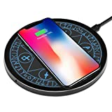 Wireless Charger Qi 10W Wireless Charging Pad, 7.5W Compatible with iPhone 11/Pro/Max/XS Max/XR/XS/X/8/Plus, 10W Fast Charging Samsung Galaxy S10/S10e/S9/S8/Plus/+/Note 10/9/8 and More (No AC Adapter)