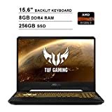 2020 Newest ASUS TUF 15.6 Inch FHD 1080p Gaming Laptop (AMD 4-Core Ryzen 5 3550H up to 3.7GHz, 8GB DDR4 RAM, 256GB SSD, NVIDIA GeForce GTX 1050, Backlit KB, Windows 10) (Black)