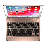 Brydge 10.5 Keyboard for The iPad Pro 10.5 inch, Aluminum Bluetooth Keyboard with Backlit Keys (Gold)